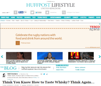 Huffpost Lifestyle- Think You Know How To Taste Whisky? Think Again…